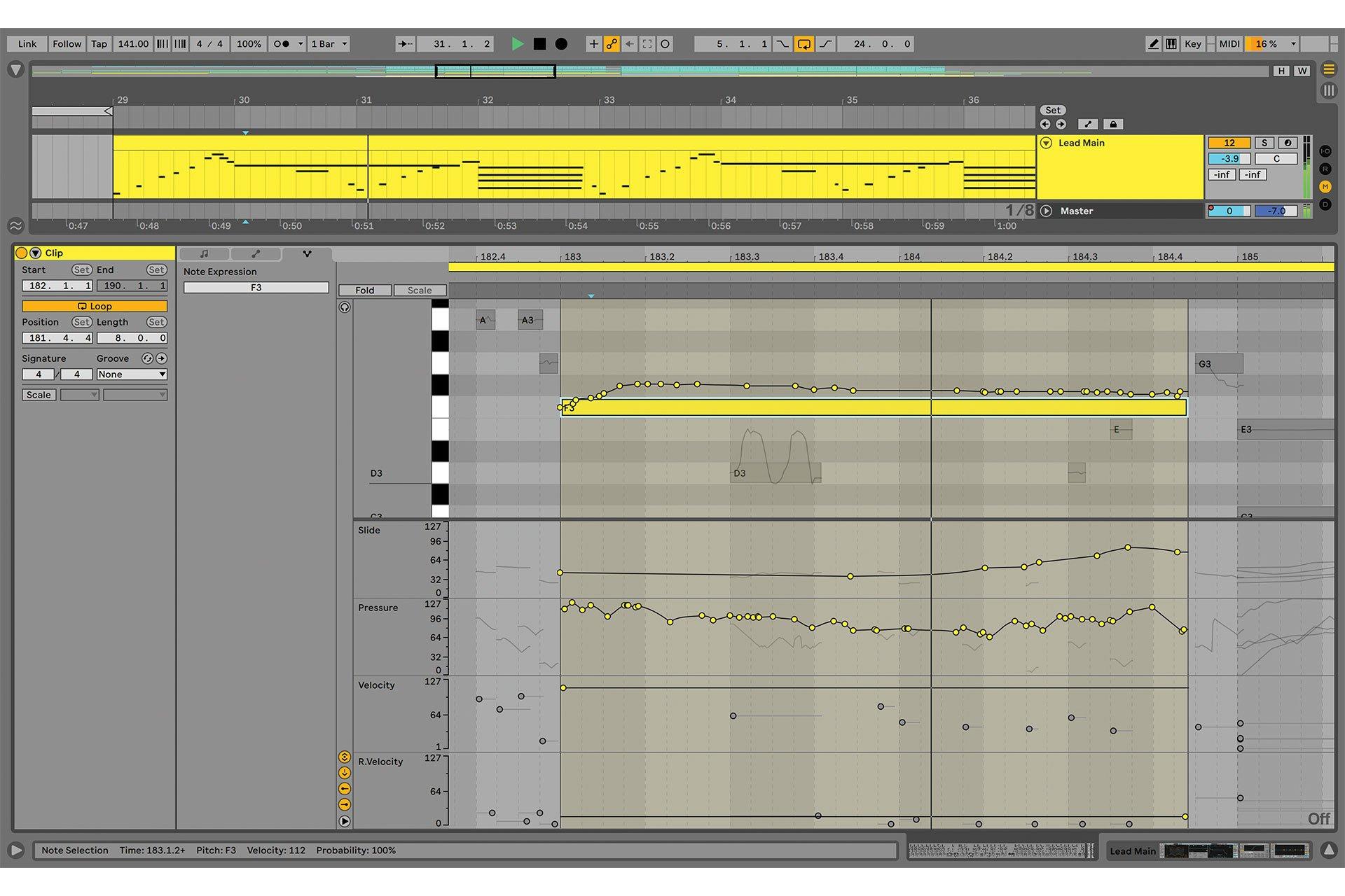 Sortie Ableton Live 11 MPE Control