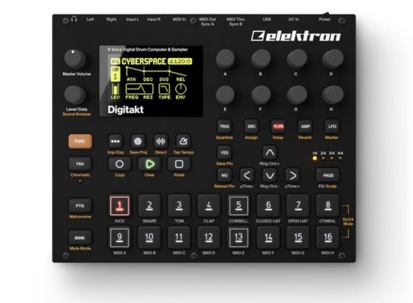 Elektron - Digitakt - Top